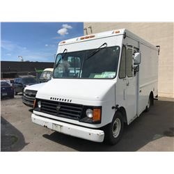 2002 WORKHORSE FT-1060 VAN, WHITE, GAS, AUTOMATIC, VIN#5T4HP41R323339655, 120,038KMS, RD,CD, 1XICBC