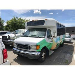 2004 FORD E-250 AEROTECH BUS, 6.8L, GAS, AUTOMATIC, VIN#1FDXE45554HB16119, 139,527KMS,