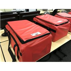 NEW RED PADDED AND INSULATED TRAVEL BAG