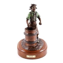 "Original G.C. Wentworth ""Rodeo Clown"" Bronze"