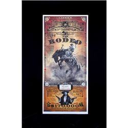 Deadwood South Dakota Rodeo Poster Bob Coronato