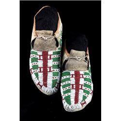 Sioux South Dakota Fully Beaded Moccasins c. 1880