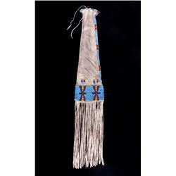 Sioux Beaded Pipe Tobacco Bag c. 1870 RARE