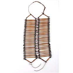 Early Sioux Indian Bone Hair Pipe Breast Plate