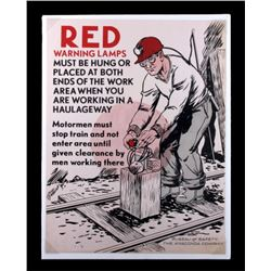Original Anaconda Company Mining Safety Poster