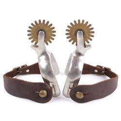 Polished Aluminum & Brass Western Cowboy Spurs