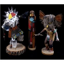 Collection of Hopi Kachina Dolls (3)