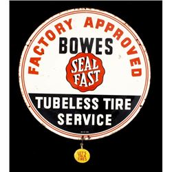 Bowes Tubeless Tire Service Advertising Sign