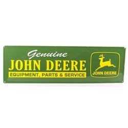 John Deere Embossed Stamped Steel Advertising Sign