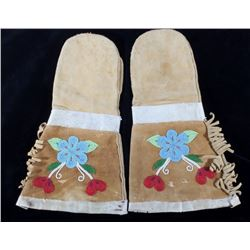 Native American Beaded & Leather Gauntlets