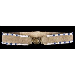Northern Plains Locket Style Beaded Leather Belt