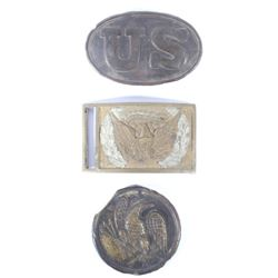 Civil War Union Belt Buckles & Plate Collection
