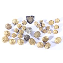 Civil War Uniform Brass Button Collection