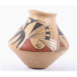 Native American Hopi Polychrome Pottery Jar