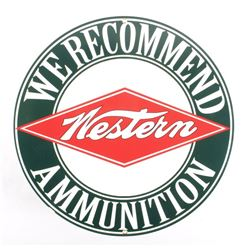 Porcelain Enamel Western Ammunition Advertisement