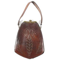 World War II Tooled Leather & Brass Hand Bag 1941