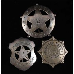 Collection of Western Lawmen Badges