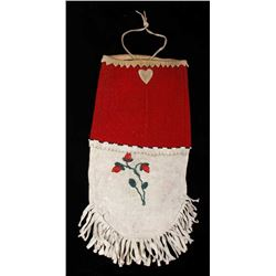 Menominee Floral Trade Seed Beaded Bag