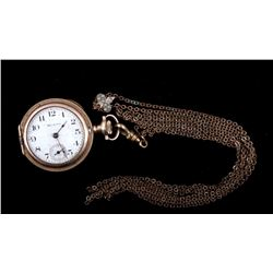 Hampden Molly Stark Pocket Watch With Chain