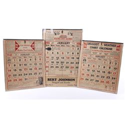 Montana Druggist Weather Chart Calendar 1926/40/42
