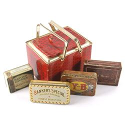 Collection of Early Tobacco Tins