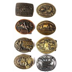 Collection Of NFR Hesston Limited Edition Buckles