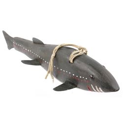 Antique Hand Carved & Painted Spear Fishing Decoy