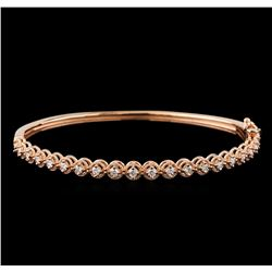 0.75 ctw Diamond Bracelet - 14KT Rose Gold