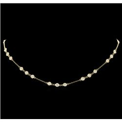 14KT Yellow Gold 2.96 ctw Diamond Necklace