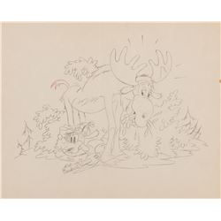 """""""Goofy"""" production layout drawing from Moose Hunters."""