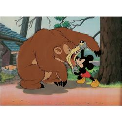 """Mickey Mouse"" and ""Grizzly Bear"" production cel from a Mickey Mouse theatrical short."