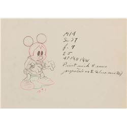 """Mickey Mouse"" production drawing from Brave Little Tailor."