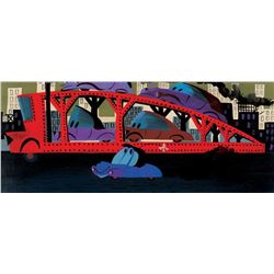 "Mary Blair pan concept painting for ""Suzie"" The Little Blue Coupe."