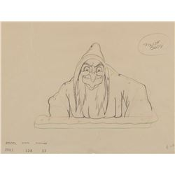 """Wicked Witch"" production drawing from Snow White and the 7 Dwarfs."