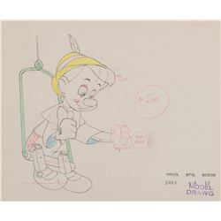 """Pinocchio"" production drawing from Pinocchio."
