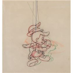 """""""Pinocchio"""" with strings production drawing from Pinocchio."""