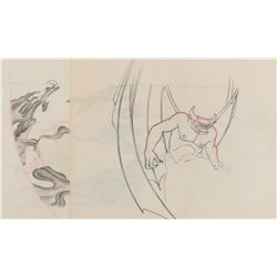 """Chernabog"" production drawing with effects from ""The Night on Bald Mountain"" segment of Fantasia."