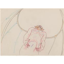 """Chernabog"" production drawing from ""The Night on Bald Mountain"" segment of Fantasia."