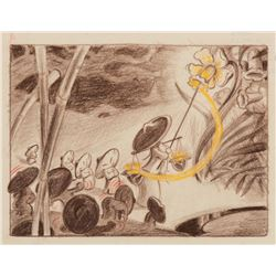 """Mushrooms"" layout drawing from the ""Nutcracker Suite"" segment of Fantasia."