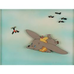 """Dumbo"", ""Timothy Mouse"" & ""Crows"" production cels on airbrushed Courvoisier background from Dumbo."
