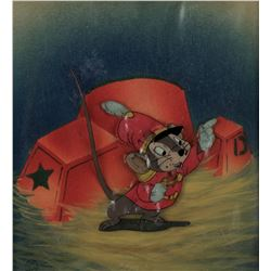 """Timothy Mouse"" production cel on an airbrushed Courvoisier background from Dumbo."