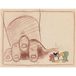 (3) Mickey and the Beanstalk production storyboard drawings.