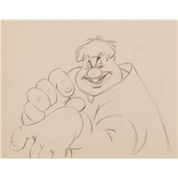 """Willie the Giant"" production drawing from ""Mickey and the Beanstalk"" segment of Fun and Fancy Free."