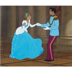 """Cinderella"" & ""Prince Charming"" matching production cels on production background from Cinderella."