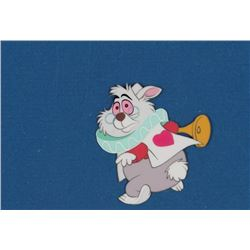 """White Rabbit"" production cel from Alice in Wonderland."