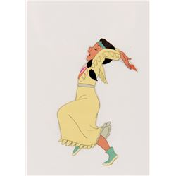 """""""Tiger Lily"""" production cel from Peter Pan."""
