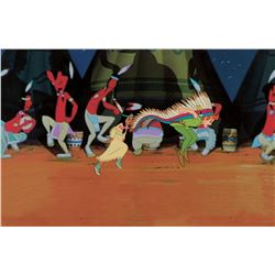 """""""Peter Pan"""" and """"Tiger Lilly"""" production cel from Peter Pan."""