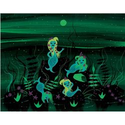 Mary Blair concept painting of the Mermaids for Peter Pan.
