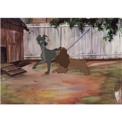 """""""Lady"""" and """"Tramp"""" production cel from Lady and the Tramp."""