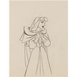 """""""Briar Rose"""" and the """"Mock Prince"""" matching production drawings from Sleeping Beauty."""